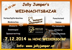 2014-12-07_Werbeplakat Weihnachtsbazar Riders Lounge